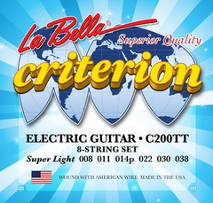 La Bella C200TT Criterion Комплект струн для электрогитары 008-038