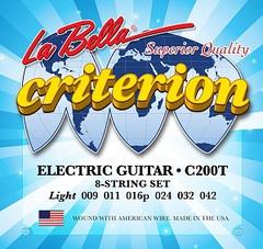 La Bella C200T Criterion Комплект струн для электрогитары 009-042