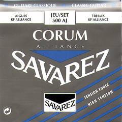 Savarez 500AJ Alliance Corum Комплект струн для классической гитары, сильное натяжение, посеребренные