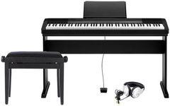 Casio CDP-135 PREMIUM SET Цифровое пианино + Деревянная стойка + Банкетка + Наушники