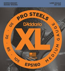 D'Addario EPS160 ProSteels Комплект струн для бас-гитары, Medium, 50-105, Long Scale