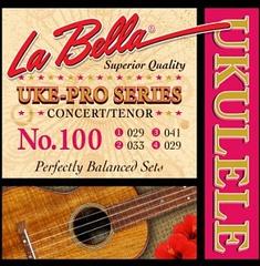 La Bella 100 Uke-Pro Комплект струн для концертного/тенор укулеле