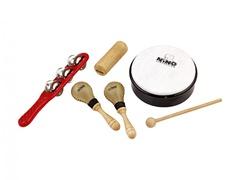 Nino Percussion NINOSET1 Набор перкуссии, 5 предметов, в чехле