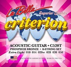 La Bella C520T Criterion Комплект струн для акустической гитары 010-050