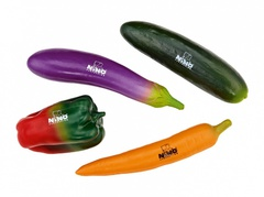Nino Percussion NINOSET101 Набор шейкеров-овощей, пластик