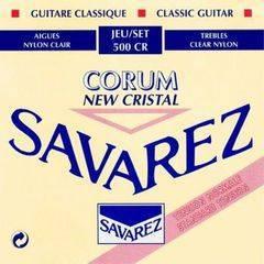 Savarez 500CR New Cristal Corum Комплект струн для классической гитары, норм.натяжение, посеребренные