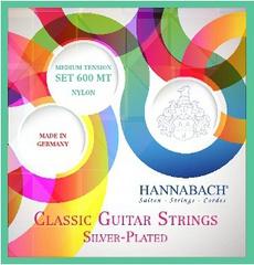 Hannabach 600MT Silver-Plated Green Комплект струн для классической гитары, среднее натяжение