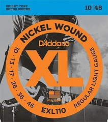 D'Addario EXL110 XL NICKEL WOUND Струны для электрогитары Regular Light 10-46