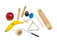 Nino Percussion NINOSET4 Набор перкуссии, 8 предметов, в чехле