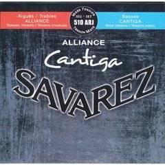 Savarez 510ARJ Alliance Cantiga Комплект струн для классической гитары, смешанное натяжение, посеребренные