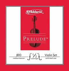 D'Addario J810-1/2M Prelude Комплект струн для скрипки размером 1/2, среднее натяжение