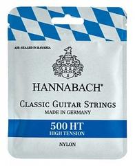 Hannabach 500HT Комплект струн для классической гитары, посеребренная медь, сильное натяжение