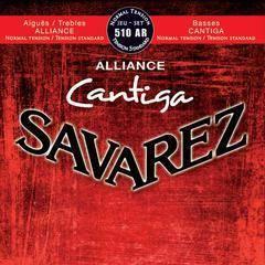 Savarez 510AR Alliance Cantiga Комплект струн для классической гитары, норм.натяжение, посеребренные