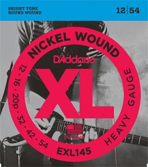 D'Addario EXL145 XL NICKEL WOUND Струны для электрогитары Heavy 12-54
