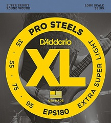 D'Addario EPS180 ProSteels Комплект струн для бас-гитары, Extra Super Light, 35-95