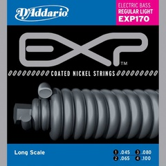 D'Addario EXP170 Coated Комплект струн для бас-гитары, Light, 45-100, Long Scale
