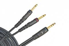 """Planet Waves PW-INS-20 Custom Series Инструментальный кабель 6.1м, 1/4"""" стерео - 2х 1/4"""" моно"""