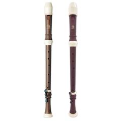 Angel AWR-TW(B) Wood Grain Блокфлейта тенор, барочная система, коричневая, 3 части