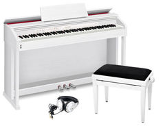 Casio AP-470WE PROFI SET Цифровое пианино + Банкетка + Наушники