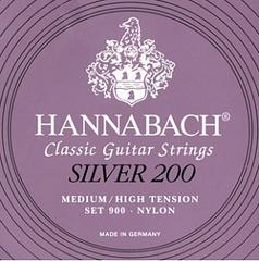 Hannabach 900MHT SILVER 200 Комплект струн для классической гитары нейлон/посеребренные