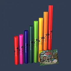 Boomwhackers BWDG (BWDW-P) Музыкальные трубки, диатонический набор 8 нот,
