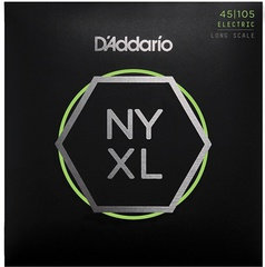D'Addario NYXL45105 NYXL Комплект струн для бас-гитары, Long Scale, L Top/Med Bottom, 45-105