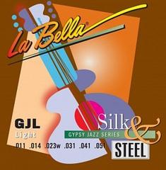 La Bella GJL-BE Gypsy Jazz Silk&Steel Комплект струн для акустической гитары, Light, 11-51, шарик