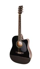Caraya F601-BK Акустическая гитара, с вырезом, черная