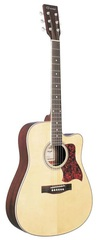 Caraya F650C-N Акустическая гитара, с вырезом, цвет натуральный