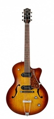Godin 5th Avenue CW Kingpin II Cognac Burst Электрогитара арктоп, с чехлом