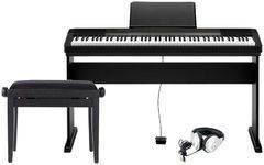 Casio CDP-130 PREMIUM SET Цифровое пианино + Деревянная стойка + Банкетка + Наушники