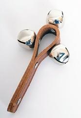 Колокольчики CMT-G11-3A (шарики) на кожаной ручке