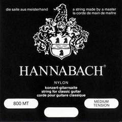 Hannabach 800MT Black SILVER PLATED Комплект струн для классической гитары, нейлон/посеребренные