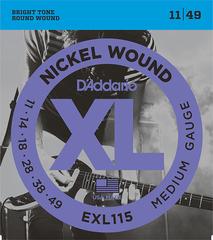 D'Addario EXL115 XL NICKEL WOUND Струны для электрогитары Blues/Jazz Rock 11-49