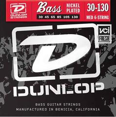Dunlop DBN30130 Комплект струн для 6-струнной бас-гитары, никелированные, Medium, 30-130