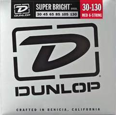 Dunlop DBS30130 Комплект струн для 6-струнной бас-гитары, нерж.сталь, Medium, 30-130