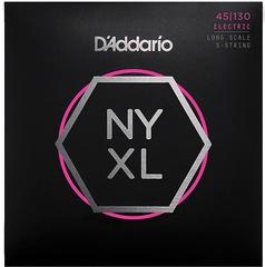 D'Addario NYXL45130 NYXL Комплект струн для 5-струнной бас-гитары, Long Scale, Reg Light, 45-130