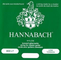 Hannabach 800LT Green SILVER PLATED Комплект струн для классической гитары, нейлон/посеребренные