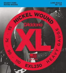 D'Addario EXL230 XL NICKEL WOUND Струны для бас-гитары Long Heavy 55-110