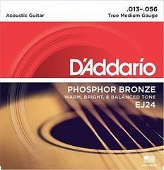 D'Addario EJ24 Phosphor Bronze Комплект струн для акустической гитары, фосфор/бронза, True Medium, 13-56