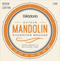 D`Addario EJ80 Комплект струн для мандолины октавной, фосфорная бронза, 12-46