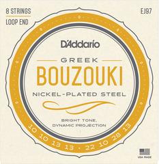 D'Addario EJ97 Комплект струн для греческого бузуки, никелированные, 10-28