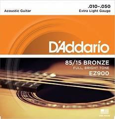 D'Addario EZ900 AMERICAN BRONZE 85/15 Струны для акустической гитары Extra Light 10-50