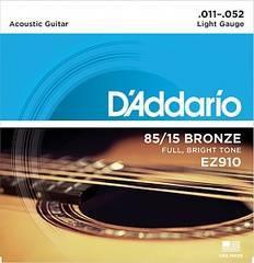 D'Addario EZ910 AMERICAN BRONZE 85/15 Струны для акустической гитары Light 11-52