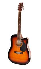 Caraya F631CEQ-BS Электро-акустическая гитара, с вырезом, санберст