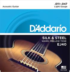 D`Addario EJ40 SILK&STEEL Струны для акустической гитары посеребренные сталь и шелк 11-47