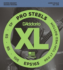 D'Addario EPS165 ProSteels Комплект струн для бас-гитары, Custom Light, 45-105, Long Scale