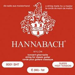 Hannabach 800SHT Red SILVER PLATED Комплект струн для классической гитары, нейлон/посеребренные