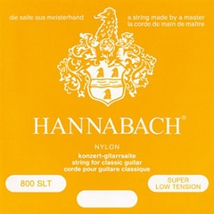 Hannabach 800SLT Yellow SILVER PLATED Комплект струн для классической гитары нейлон/посеребренные