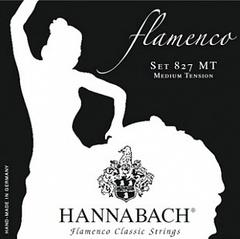 Hannabach 827MT Black FLAMENCO Комплект струн для классической гитары желтый нейлон/посеребренные